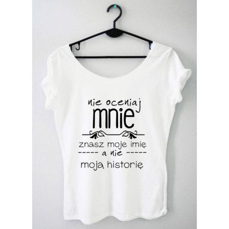 Time For Fashion Nie oceniaj / t-shirt biały