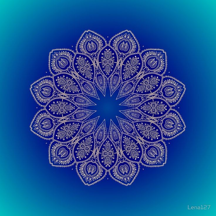 Blue Mandala of Hope