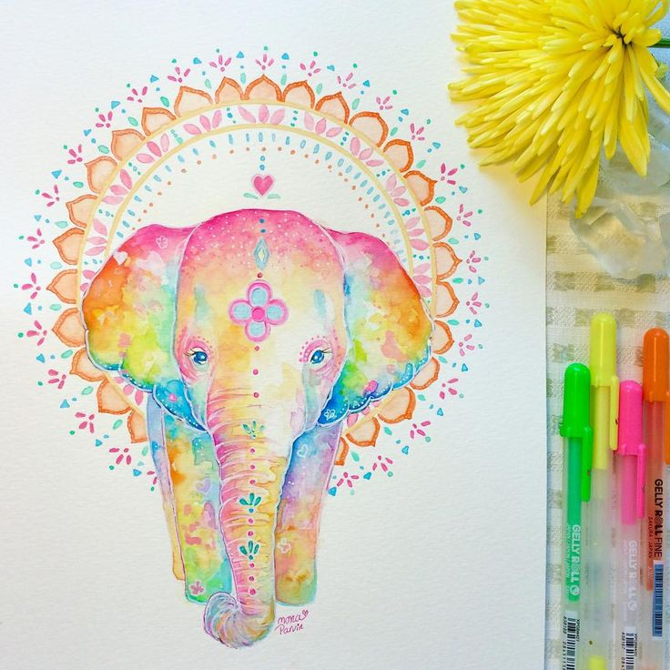 Boho baby elephant one of the new #watercolor #illustration for the boutique shop