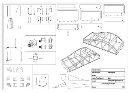 Springer model ship plan