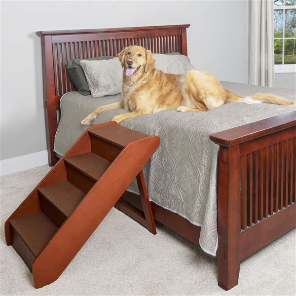 Stairs Steps Petsafe Solvit Pupstep Wood Pet Stairs Xlarge Foldable Pet Stairs Dog Stairs Dog Stairs For Bed