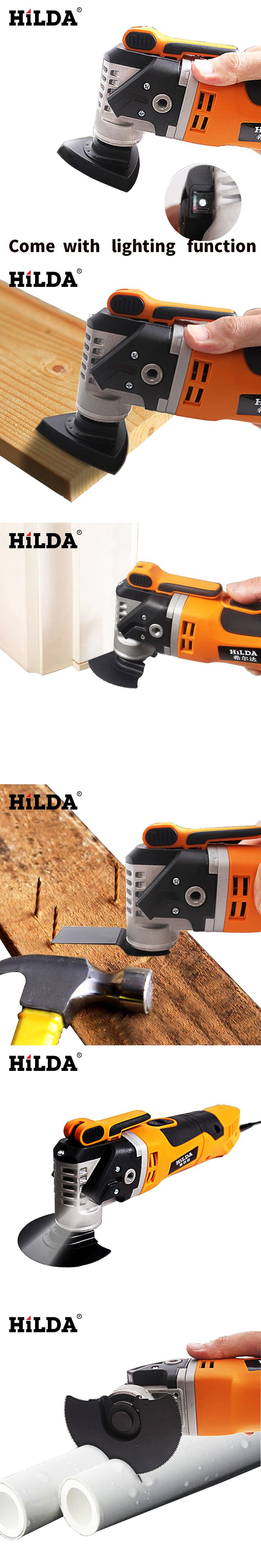 HILDA  Multi-Function Electric Saw Renovator Tool Oscillating Trimmer Home Renovation Tool Trimmer woodworking Tools