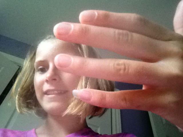 My really long nail an no it ain't fake | Nails ... - photo#22