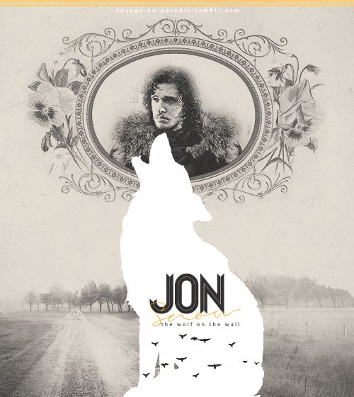 Jon Snow + Ghost (one of my favourite EVER pics) | Game of Thrones