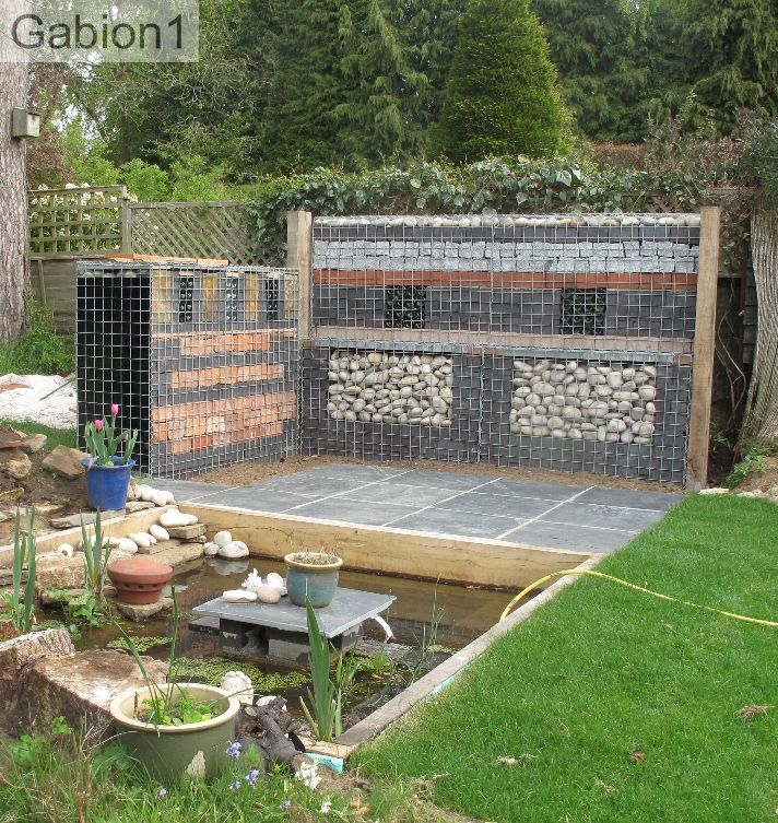 90 best images about gabion walls on pinterest. Black Bedroom Furniture Sets. Home Design Ideas