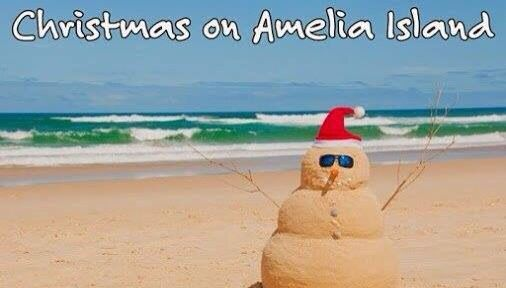 Where did you celebrate Christmas this year?  #ameliaisland #christmasonameliaisland #islandsnowman