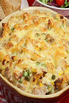 Hummm ! Gratin de pâtes au thon et brocolis : une recette Un Jour, Une Recette