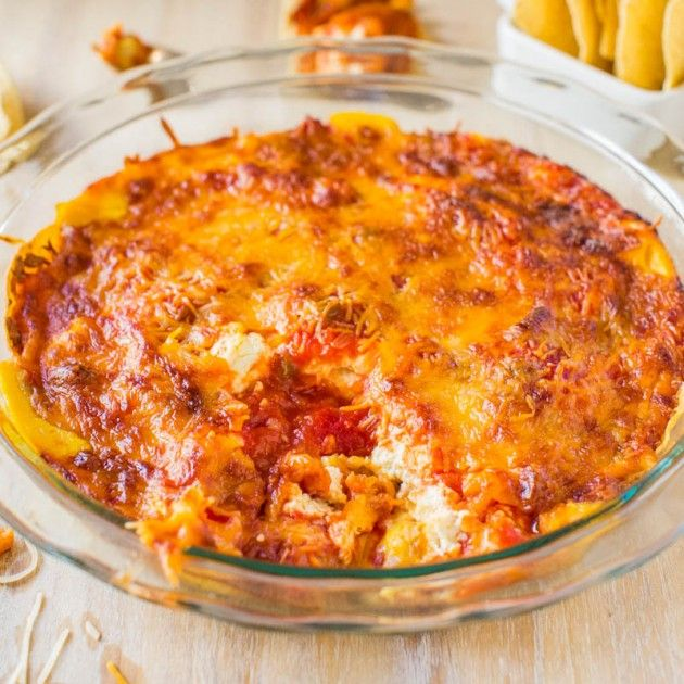 Baked Triple Cheese and Salsa Tortilla Chip Dip