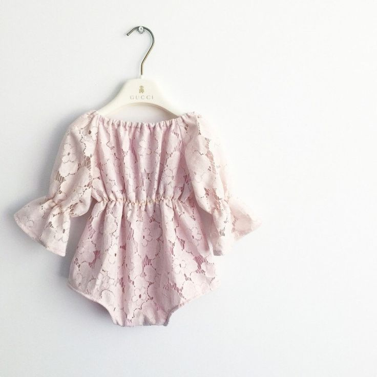 LIA ROMPER Long sleeve romper,Baby Girl Romper,Baby Girl Clothes, Special Baby Girl Outfit, Baby Girl Outfit, Baby Girl pink playsuit, lace by MissLylaBoutique on Etsy https://www.etsy.com/listing/500282415/lia-romper-long-sleeve-romperbaby-girl