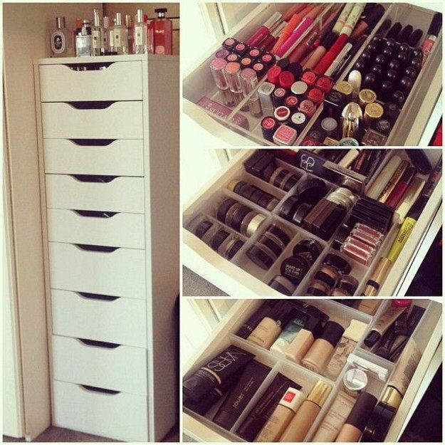 12 Ikea Makeup Storage Ideas You Ll Love Organizer Pinterest Organization And