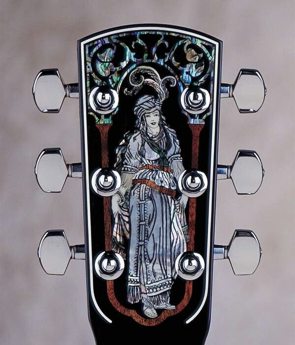 Amazing headstock inlays from Larrivee Guitars