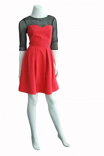 Sukienka Sofia koralowa