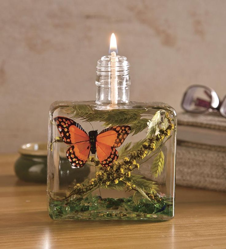 Square Butterfly Lifetime Oil Candle