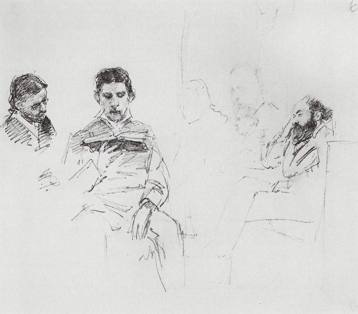Чтение вслух. 1878. Илья Ефимович Репин