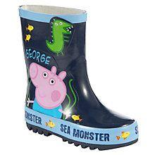 George Pig Monster Wellington Boots, Multi Online at johnlewis.com - Botas, botinas para pular em poças de lama!