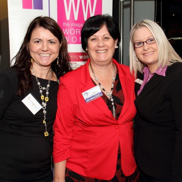 Me, Julie Laherty, Nikita Harris at Women's Network Australia North Lakes May 2013. Julie and I are wearing Attraxionz magnetic necklaces!