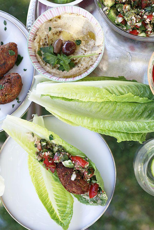 jantar do oriente médio alface romana