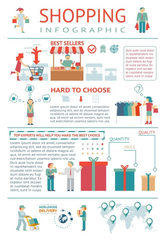 Shopping Infographic Template by Microvector on @creativemarket