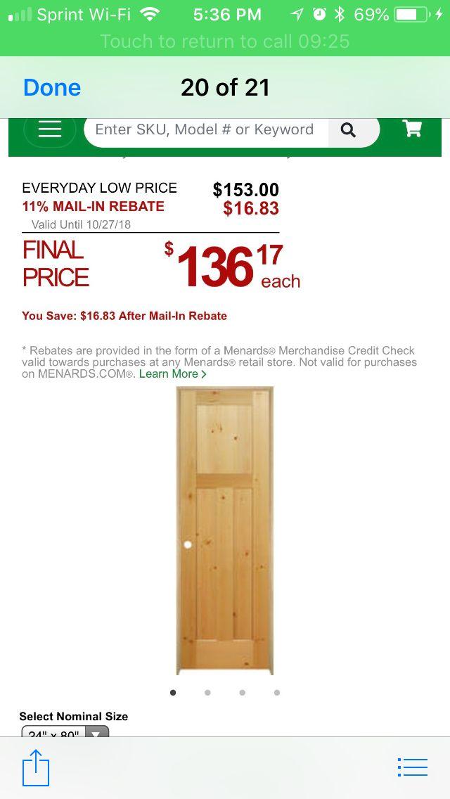 Menards pine door   Doors   Pine doors, Doors, Pine