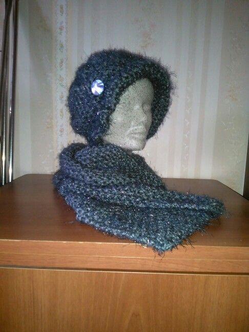 Cappello e sciarpa realizzato con la lana mohair vanity!