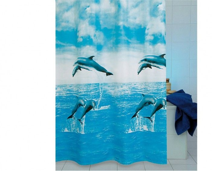 DOLPHIN SHOWER CURTAIN | Foregather.net