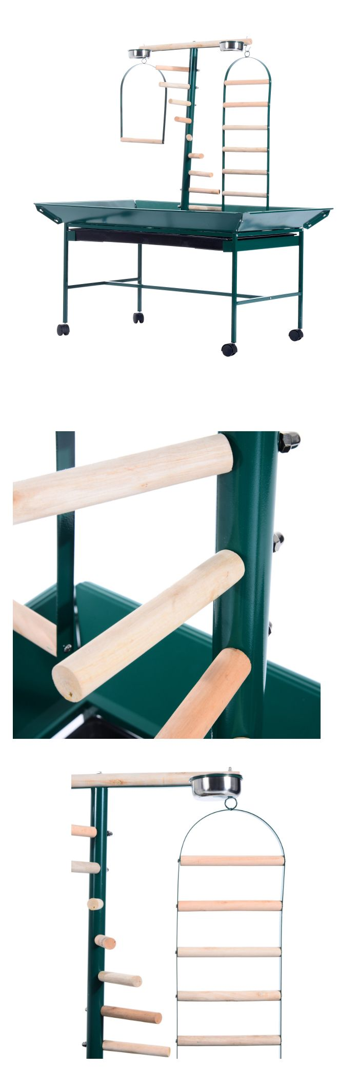 Cage Stands 116360: Macaw Parrot Stand Cockatoo Gym Perch African Play Ladder Playpen Large Bird -> BUY IT NOW ONLY: $118.97 on eBay!