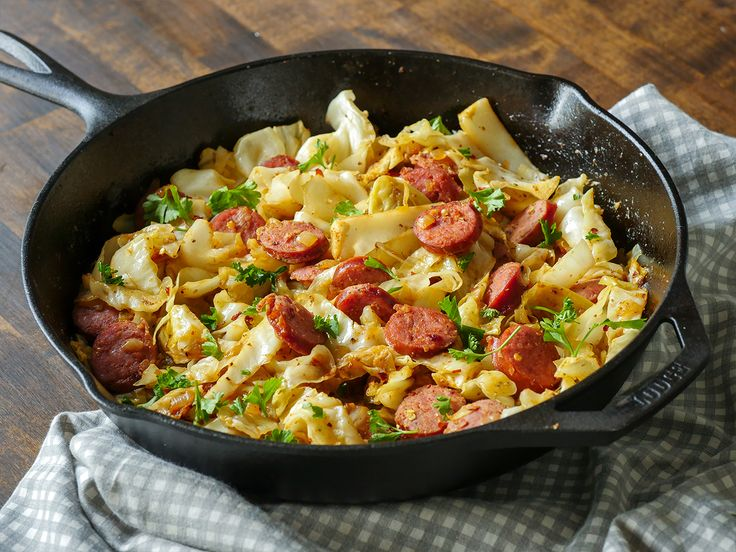 This is one of those recipes that will remind you of how great simple, flavorful dinners can be, and that you don't need crazy fancy ingredients to make a meal that everyone will love and remember. The stars of this dish are kielbasa – always a fave – and cabbage. Now, the cabbage might be a bit more of a surprising ingredient, seeing as unless it's cabbage rolls or cole slaw, people aren't really interested in it, but trust us: this stuff is good. The cabbage softens without losing all…