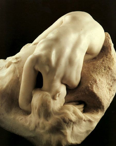 Augeste Rodin (1840-1917) - Escultor Francês. La Danaide, 1889. One of my favorite Rodin pieces. There is so much emotion in the lines of her body-you can see her sorrow.
