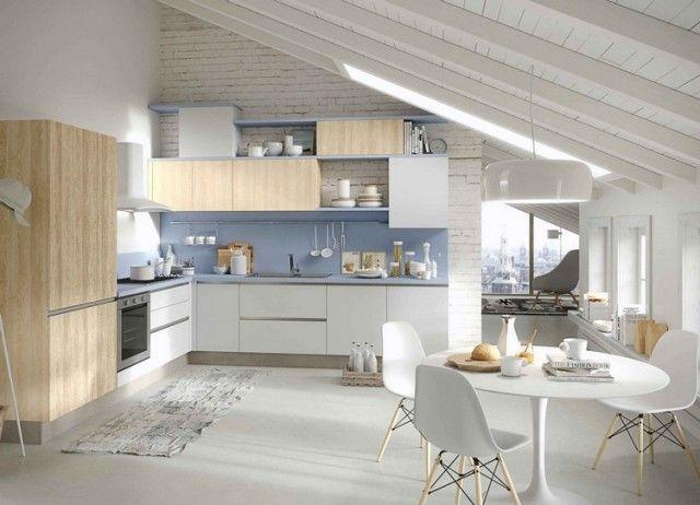 Les 25 meilleures id es concernant murs de briques blanches sur pinterest briques blanches - Credence cuisine brique blanche ...