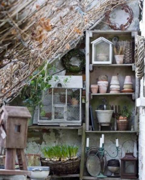 Lovely rustic garden storage