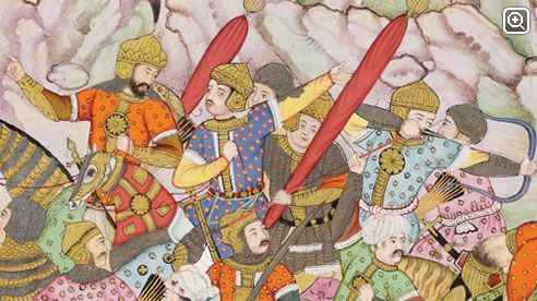 Battle of Panipat, 1526  The historic battle at Panipat saw Babur and his army defeat Afghan Sultan Ibrahim Lodi, the collapse of the Sultanate of Delhi, and the subsequent establishment of the Mughal Empire.