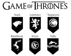 Game of Thrones dxf svg eps png file for use with your Silhouette Studio Software