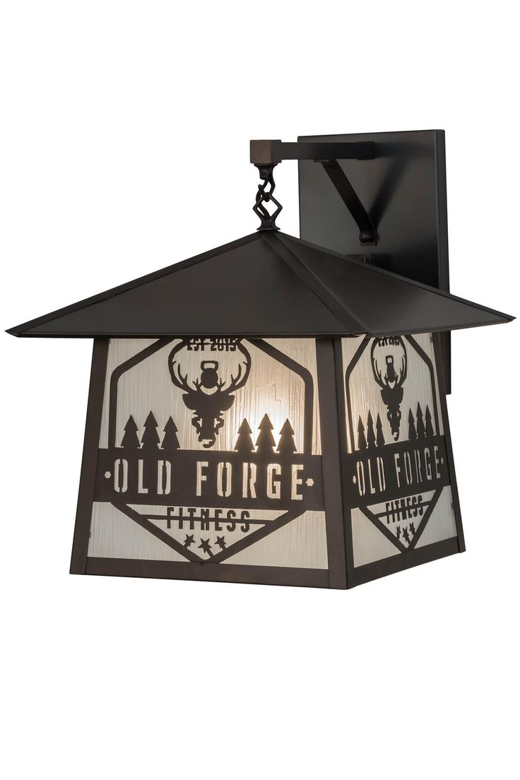 16 Inch W Personalized Old Forge Fitness Hanging Wall Sconce. 16 Inch W Personalized Old Forge Fitness Hanging Wall Sconce Theme:  RUSTIC MISSION LODGE ART GLASS RECREATION Product Family:  Personalized Old Forge Fitness Product Type:  WALL SCONCES Product Application:  ONE LIGHT Color:  ZARV (Rainmist frosted) CRAFTSMAN BROWN Bulb Type: E39 Bulb Quantity:  1 Bulb Wattage:  100 Product Dimensions:  18H x 16W x 18.5DPackage Dimensions:  NABoxed Weight:   lbsDim Weight:  NAOversized Shipping…