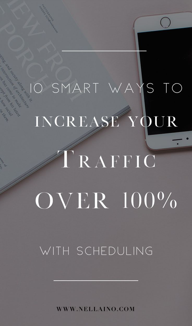These 10 smart tips for Pinterest scheduling will increase your traffic over 100%. #increasetraffic #pinteresttips #socialmediatips #blogging