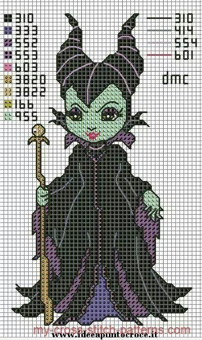 Wicked Witch Cross Stitch