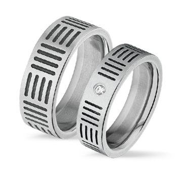 Tresor ruostumaton terässormus Leveys: 6/8mm I Tresor stainless steel ring Width: 6/8mm