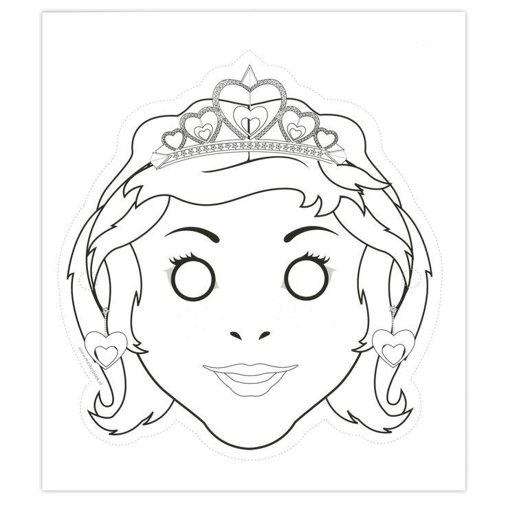 kleurplaten maskers prinsessen