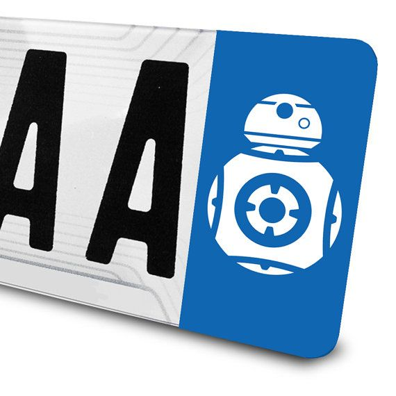 Sticker BB8 Star Wars pour plaques d'immatriculation