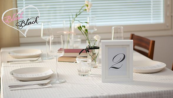 Table decorations | Blush loves Black blog on haat.fi