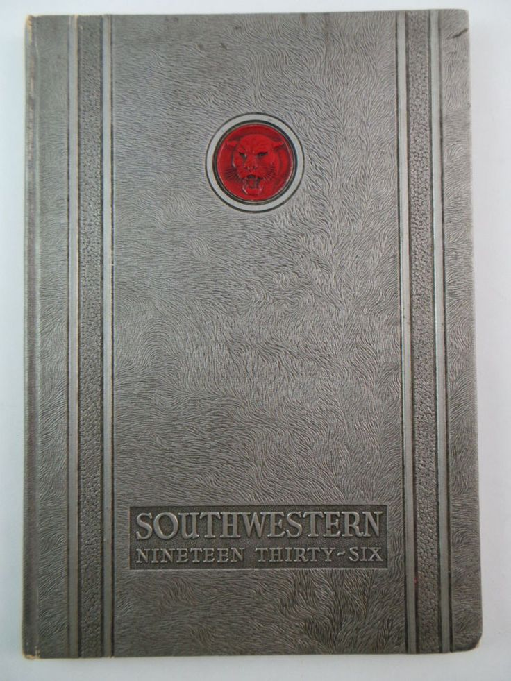 1936 SOUTHWESTERN University College Memphis Tennessee Original YEARBOOK Annual