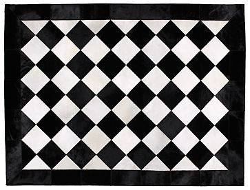 Black Amp White Harlequin Rug For The Home Painted Rug