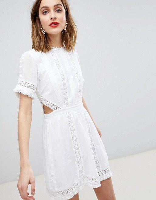 6d6a6e040d River Island Cut Out Detail Lace Skater Dress in 2019 | want to wear ...