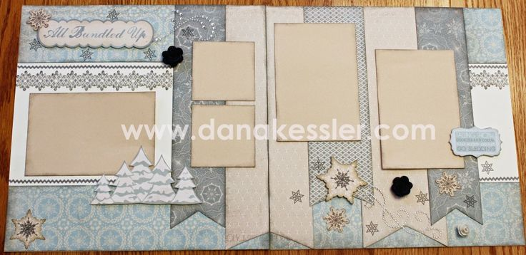 Two Page Winter Snow Scrapbooking layout Frosted Cricut Artbooking Art Philosophy CTMH #scraptabulousdesigns #ctmh #scrapbooking