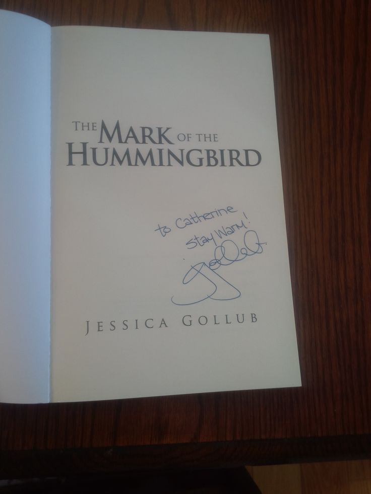 The Mark of the Hummingbird by Jessica Gollub, I've just started reading this book today, and it is already difficult to put down.