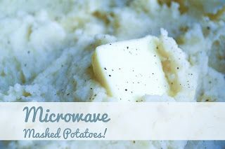 Easy (and delicious!) microwave mashed potatoes