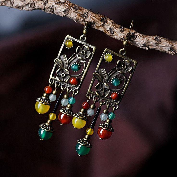 Multicolor Romantic Earrings