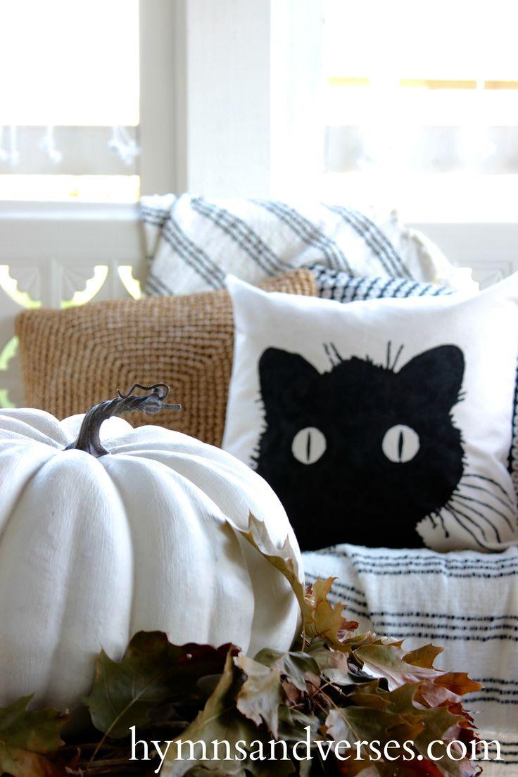 No Sew DIY Black Cat Pillow Cover