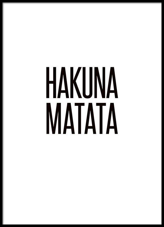 Hakuna Matata, affiches dans le groupe Affiches / Formats / 50x70cm chez Desenio AB (8294)
