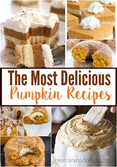 Pumpkin season is here! I have the best of the best, most delicious pumpkin recipes to share with you today! Perfect for the fall season!!