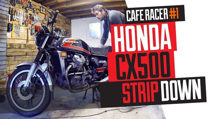 Honda CX500 Cafe Racer Build 1 -  Strip down